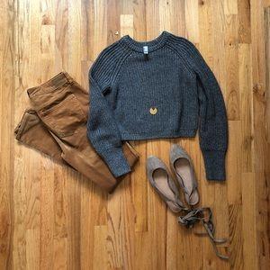 NWOT American Apparel Fisherman Crop Sweater